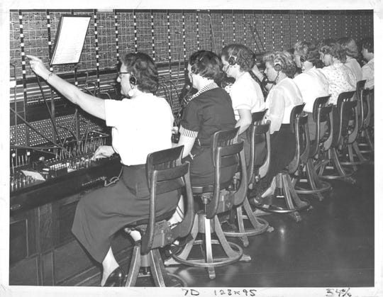 Telephone operators in Fremont in the mid-20th century placed calls by connecting lines on a manual switchboard, such as this one in Rochester, New York.
