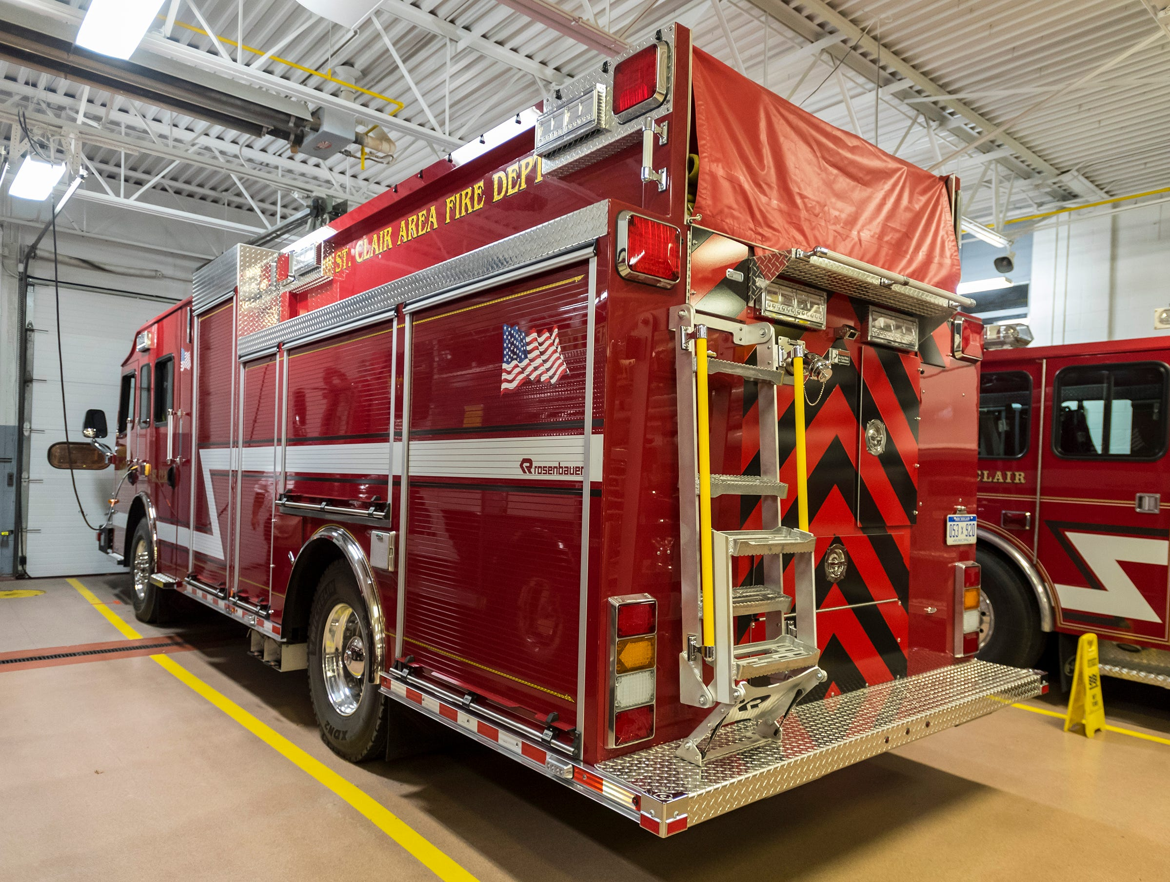 About two years ago, the St. Clair Area Fire Authority began the design process for it's new Rosenbauer pumper truck. The department took possession of the truckin September, and took it on its first run Monday.