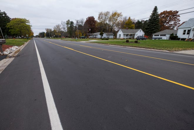 North River Road in Fort Gratiot was recently redone and made into a three-lane road. The road was previously two lanes in each direction, but now has one lane for each direction and a center lane for left-hand turns.