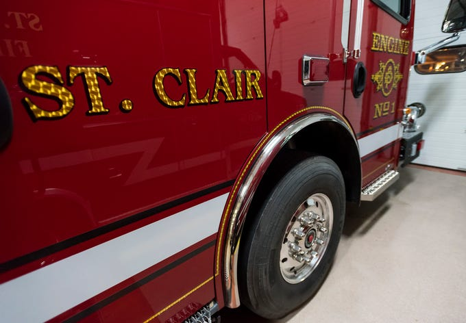 Signage on the side of St. Clair Fire Department's new truck. The St. Clair Fire Authority began the design process for the truck about two years ago, and took possession of it in September.
