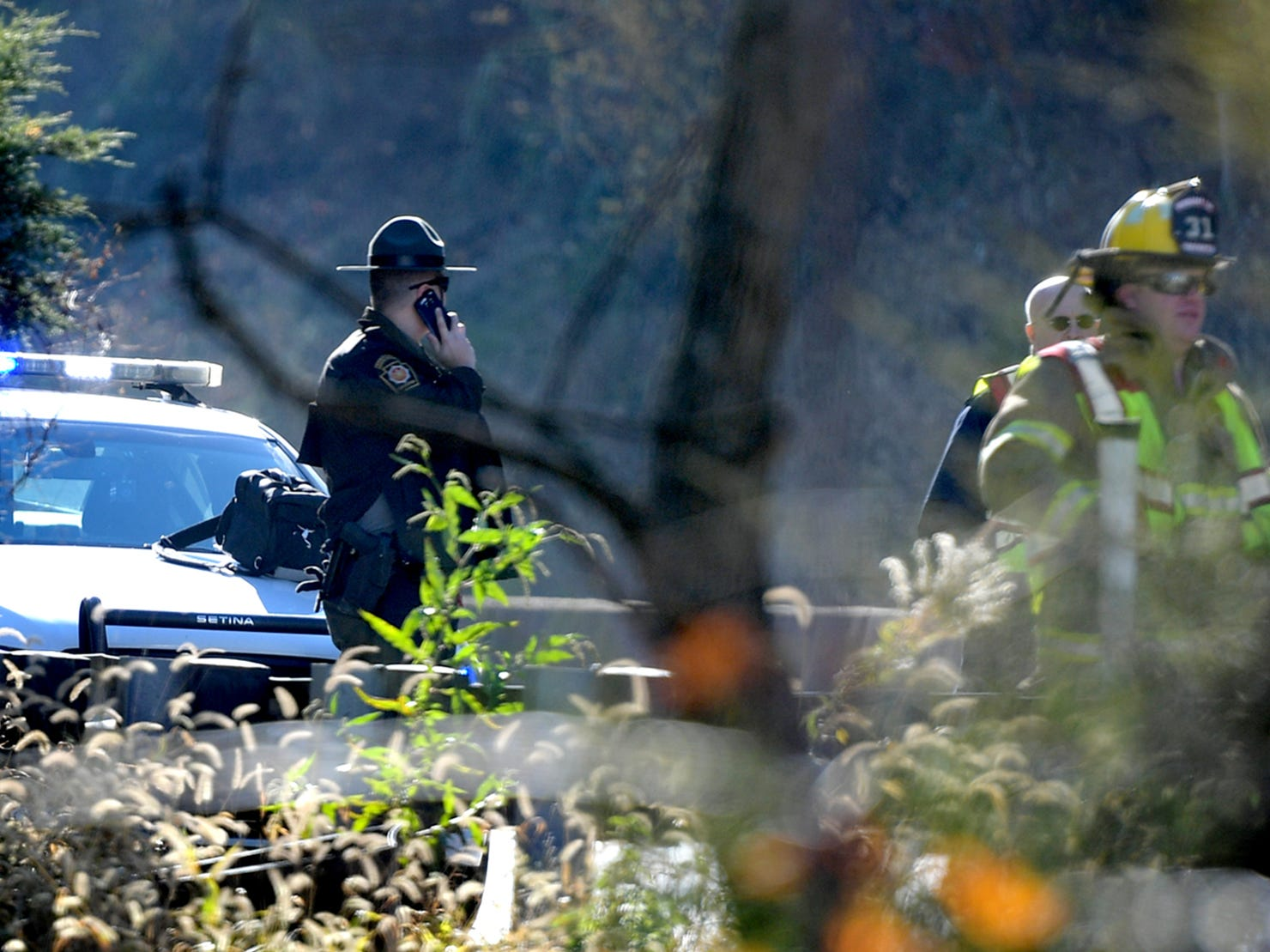 Pennsylvania State Troopers were on the scene of a fatal accident on northbound I-83, south of Exit 34, Valley Green, Thursday, Nov. 8, 2018. Northbound lanes of the interstate were closed for several hours after the crash which occurred just before 9 a.m. Bill Kalina photo