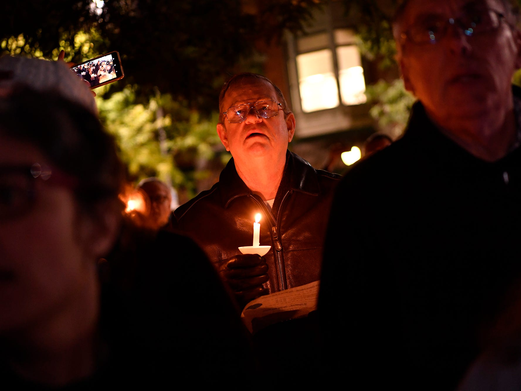 Hundreds gather to show their support for the Jewish community during a Vigil Against Hate at York City Hall, Monday, October 29, 2018. 
