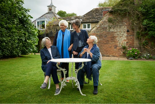 """""""Tea with the Dames,"""" starring, from left, Maggie Smith, Joan Plowright, Eileen Atkins and Judi Dench, is playing at Small Star Art House."""