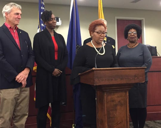"""York City Council declared Friday, Nov.  9,  """"Red Shirt Day"""" to bring awareness to homeless youth across the county. (Photo by Rebecca Klar)"""