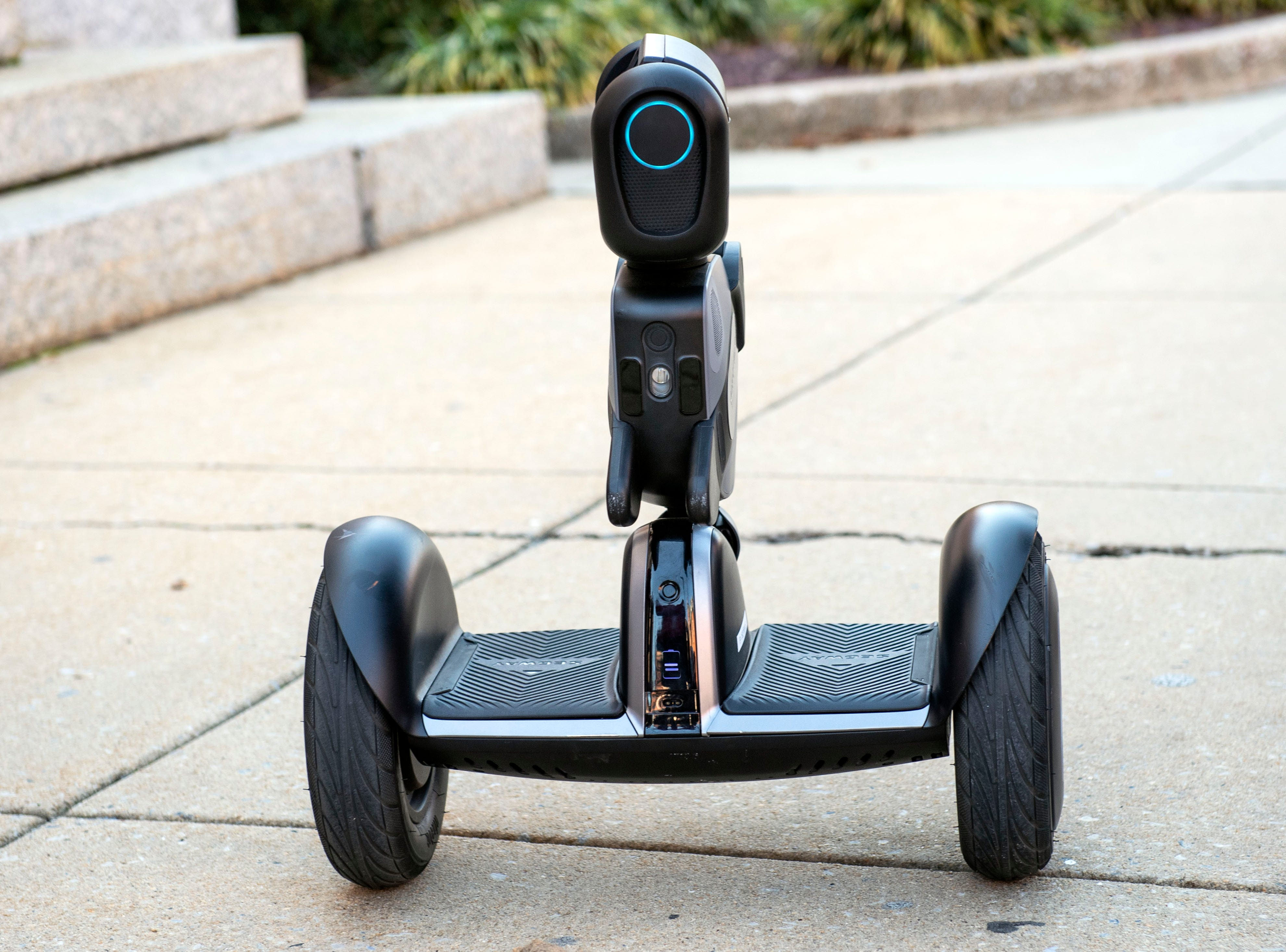 Some of the robot's features include two cameras, including a depth censor for 3DÊfacial recognition, autonomous following and some GPS capabilities. While in the early stages still, York Exponential CEO John McElligott said that the hope is the 'Loomo' will be able to recognize signs of a heart attack or a fight and be able to alert the right emergency responder.