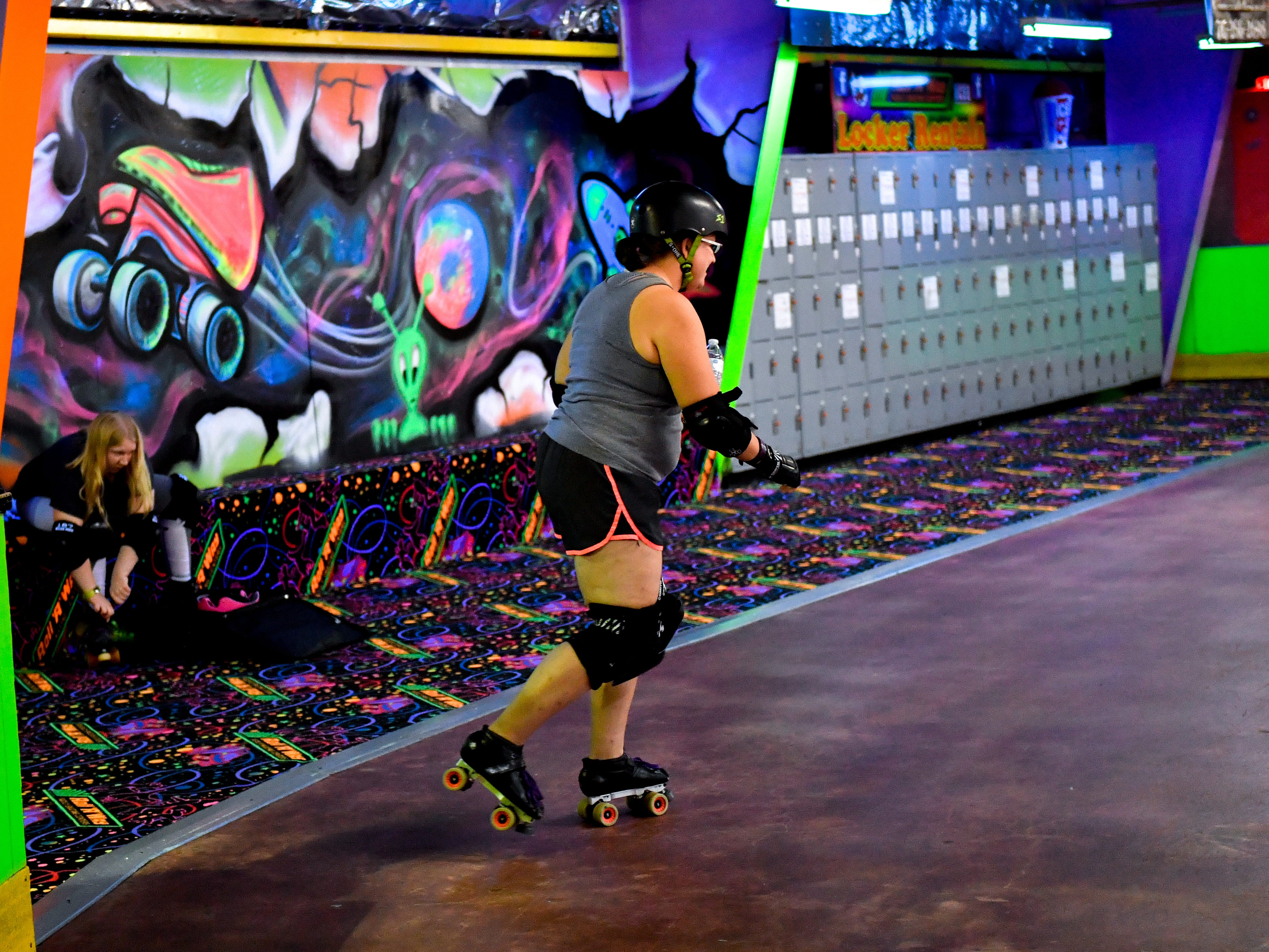 The York City Derby Dames take the rink to begin practice, Thursday, October 18, 2018.