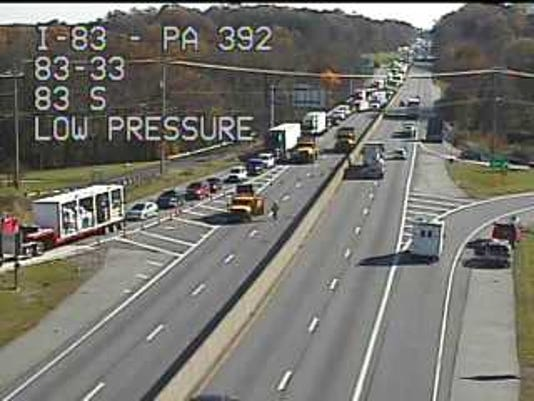 I-83: Coroner called to northbound crash near Valley Green exit