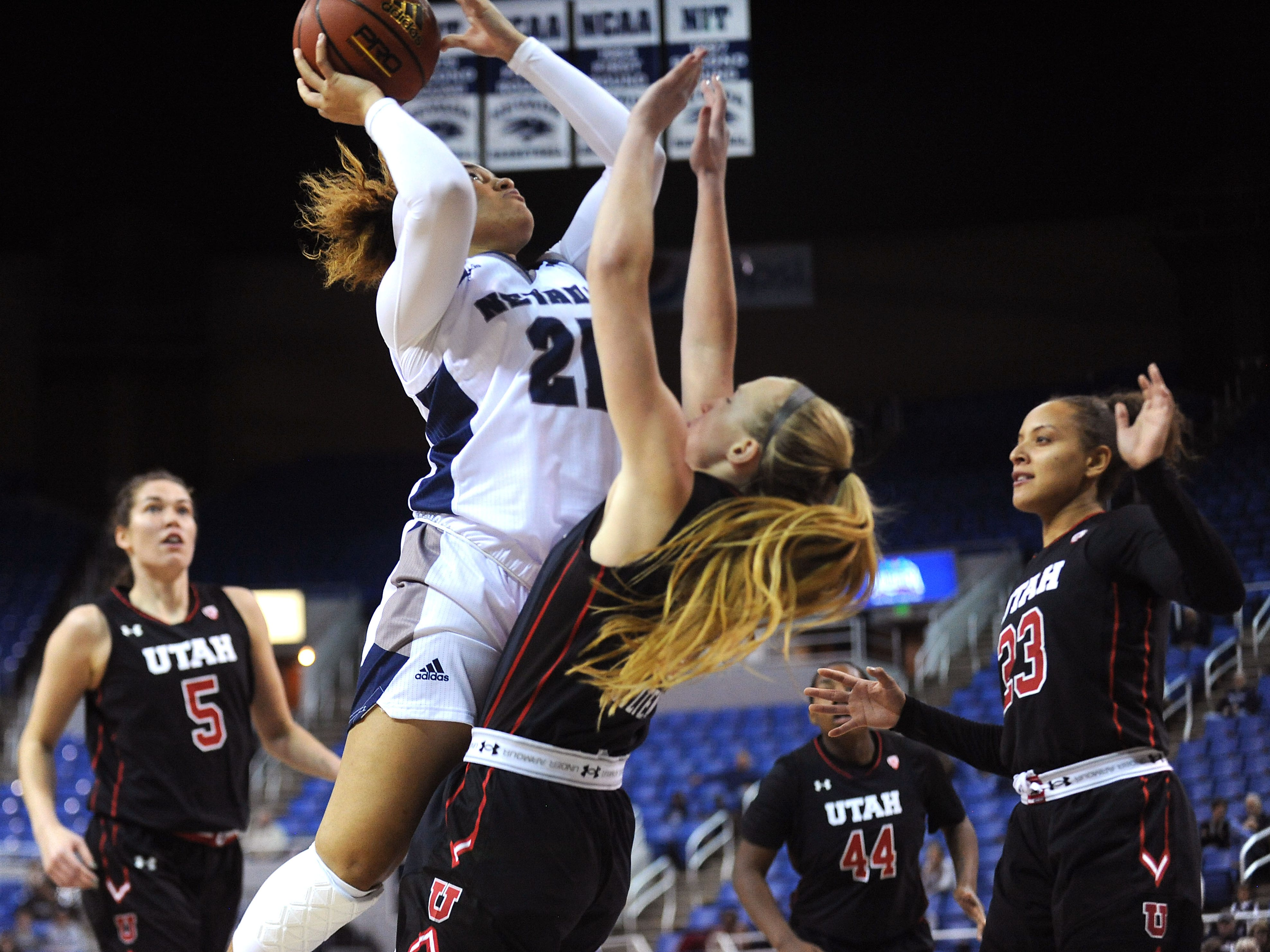Photos: Nevada women's basketball falls to Utah