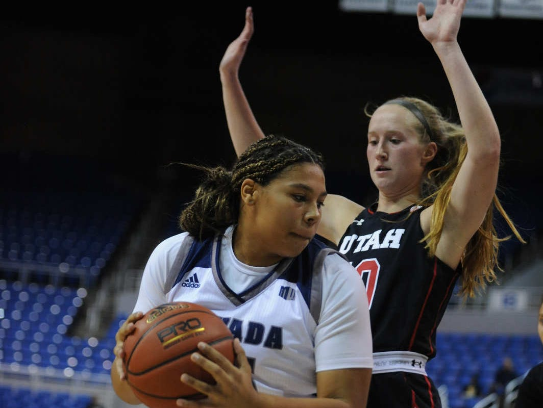 Nevada takes on Utah during their basketball game in Reno on Nov. 7, 2018.