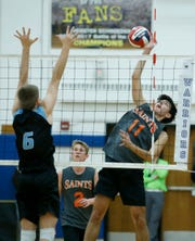 Churchville-Chili swept past Midlakes to win the Section V Class B boys volleyball championship on Wednesday night.
