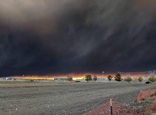 Camp Fire looking east and southeast of Chico at 10:43 a.m. on Thursday.