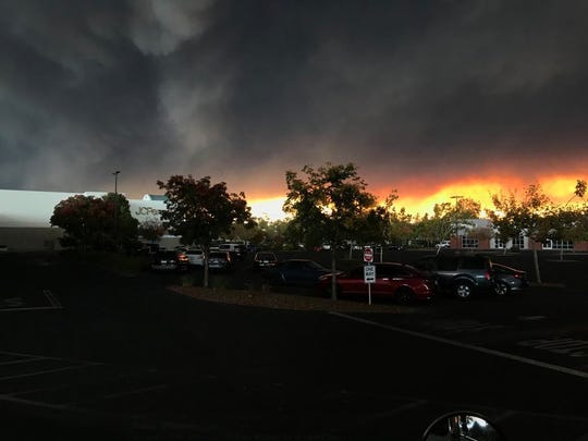The Camp Fire forced Paradise residents to evacuate on Thursday, Nov. 8, 2018.