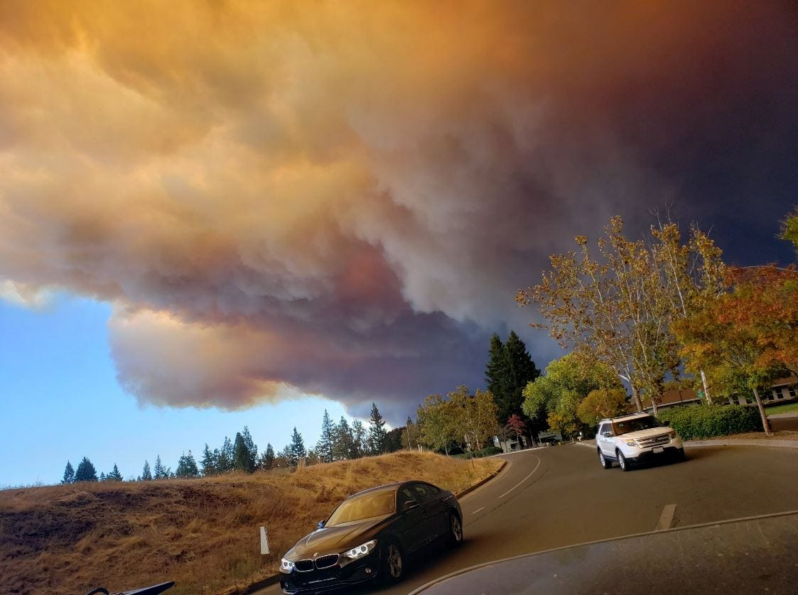 View of Camp Fire in Paradise from Chico at 9:15 a.m. Thursday.