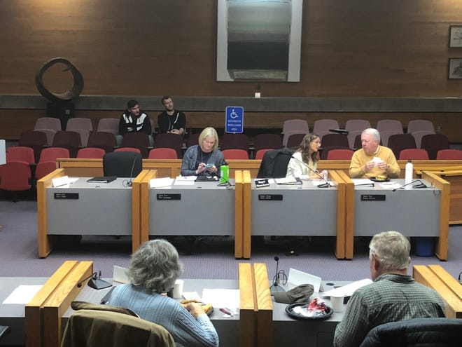 Members of Salem's Sustainable Services Revenue Task Force on Wednesday, Nov. 7, 2018, inside City Hall council chambers.