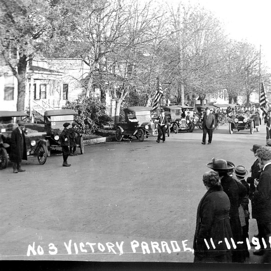 Parade celebrates end of Great War a century ago