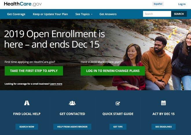The Healthcare.gov website.