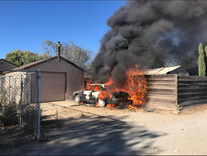 Police arrested two juveniles they suspected of setting fires.