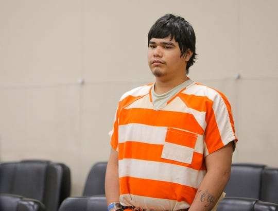 Brayan Robles Parra appears in court at his preliminary hearing Thursday.