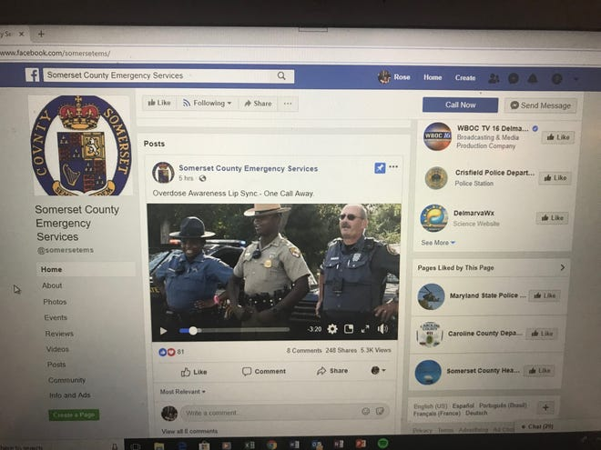 Somerset County Emergency Services published an overdose awareness lip sync video to its Facebook page Thursday, Nov. 8, 2018.