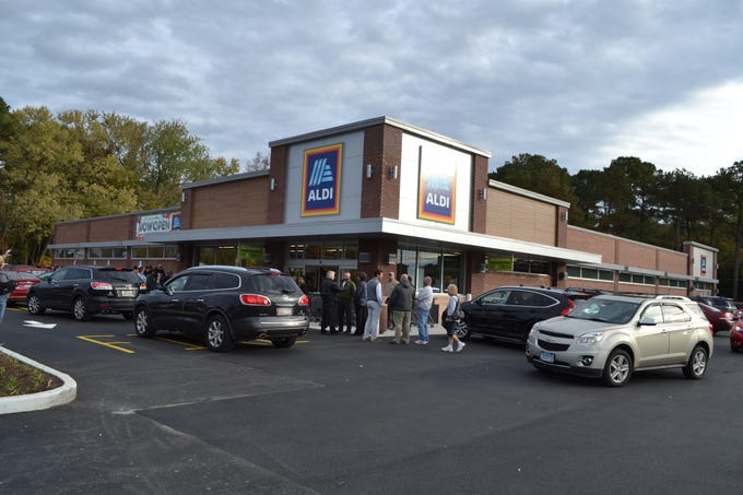 The new Aldi store on Route 13 at Dagsboro Road in Salisbury was busy on opening day on Thursday, Nov. 8. It is the German grocery chain's first store on the Lower Shore.