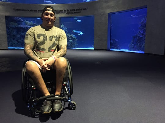 Marine Corps veteran Jeffery Combs broke his back in a motorcycle accident but discovered the joy of SCUBA diving through the LifeWaters program.