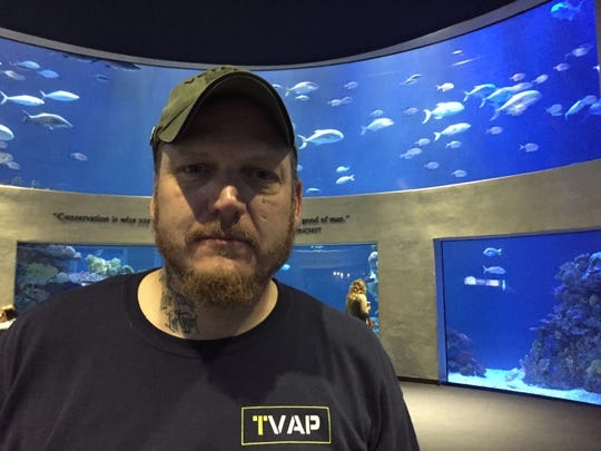Army veteran Aaron Bailey said the weightlessness of diving alleviates his physical pain.