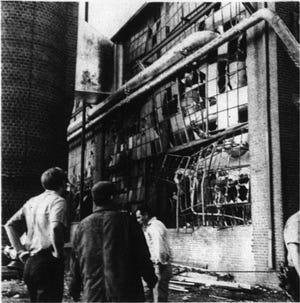 Dec. 10, 1971 News-Virginian photo of boiler room after blast.