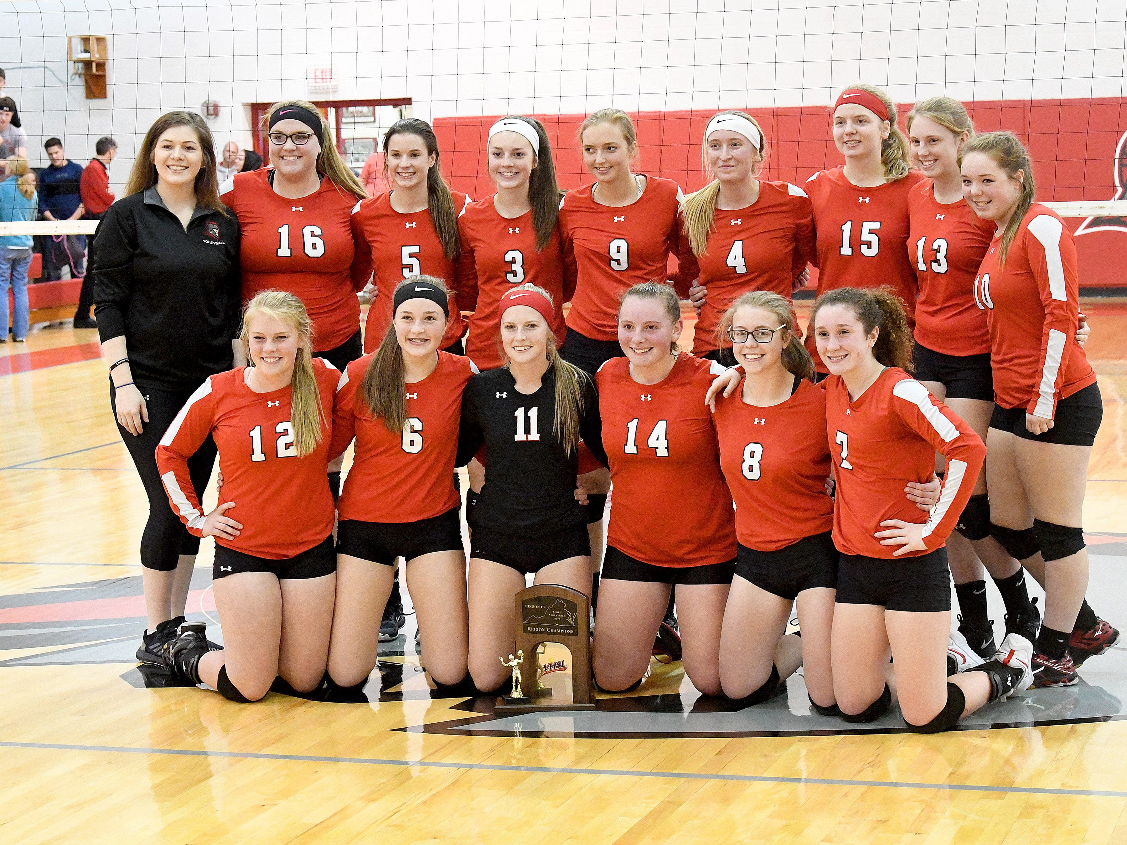 Riverheads defeated Altavista to win the Region 1B volleyball championship in a match played in Greenville on Wednesday, Nov. 7, 2018.