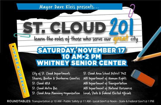 St. Cloud 201 is 10 a.m.-2 p.m. Saturday, Nov. 17 at Whitney Senior Center.