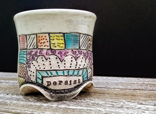 Dorrie Sanders-Duarte's mugs, plates, lamps and cake stands exhibit their own personalities.