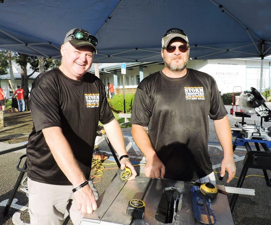 Paul Hendricks, left, and Chris Ford of Storm Troopers Home Improvement, a Lowe's partner, also participated in the Hobe Sound Boys & Girls Club improvement project on Oct. 13-14.