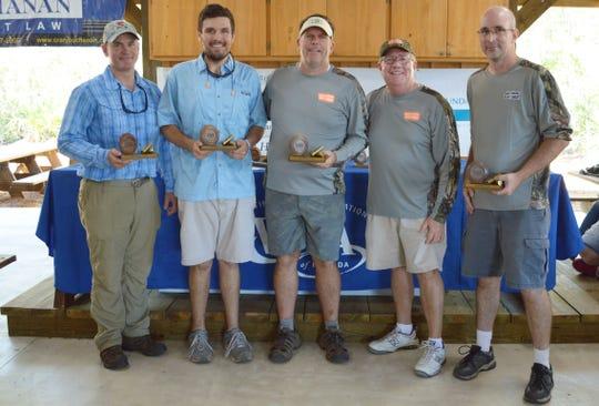 Second Place Team Winner - Cushman & Wakefield. From left, Matt King, Matthew Lowdermilk, Scott Powell, and Brad Krabec.