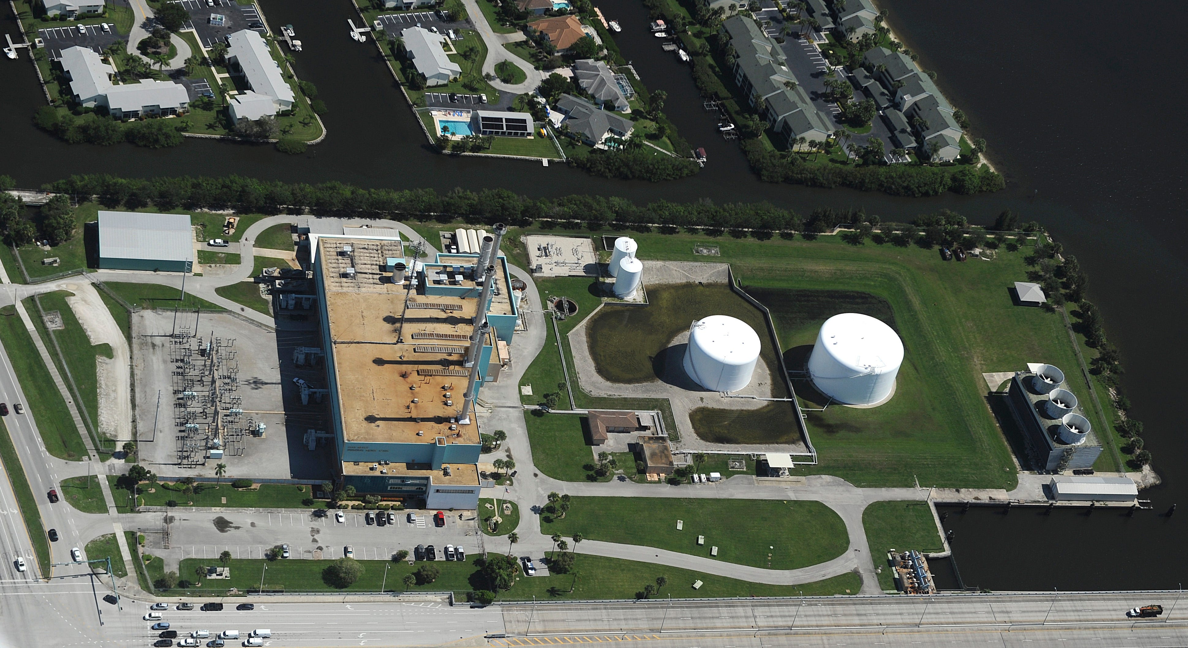 An aerial view of the Vero Beach Municipal Power Plant from July, 2014.