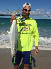 Justin Colton of Vero Beach enjoyed reeling in this large Spanish mackerel last year.
