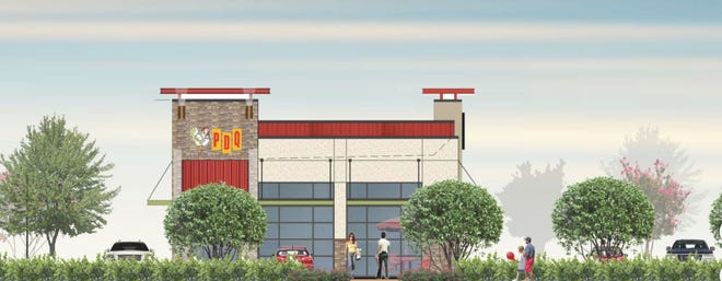 Rendering of the proposed Stuart PDQ restaurant.
