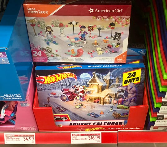 Aldi has toy Advent calendars available while supplies last.
