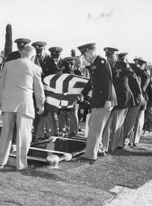 A Nov. 23, 1955, photo shows the recommittal services for Col. William Wallace Smith Bliss.