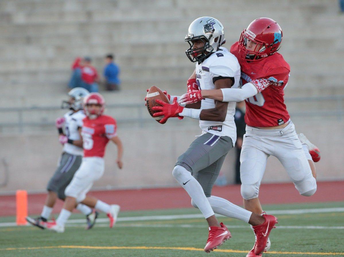 Franklin High School scores again to open the second quarter. The Cougars lead the Socorro High School Bulldogs 35-13.