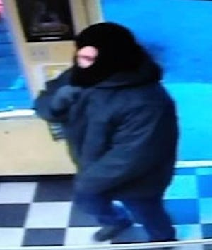 A ski-masked robber in an Oct. 22 business robbery spree in Central El Paso and the Lower Valley.