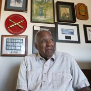 Retired Maj. Gen. Edward Greer reflects on a long military career that spanned three wars. He retired to El Paso with his wife, Jewell Greer, in 1976.