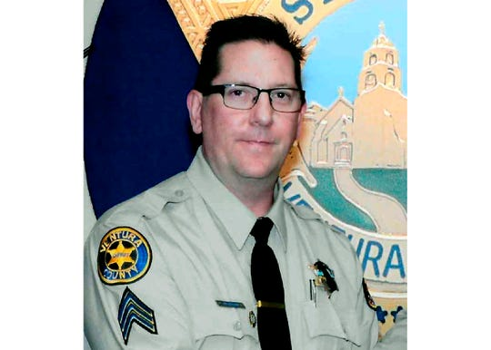 This undated photo provided by the Ventura County Sheriff's Office shows Sheriff's Sgt. Ron Helus, who was killed  Nov. 7 in a shooting at the Borderline Bar & Grill in Thousand Oaks.