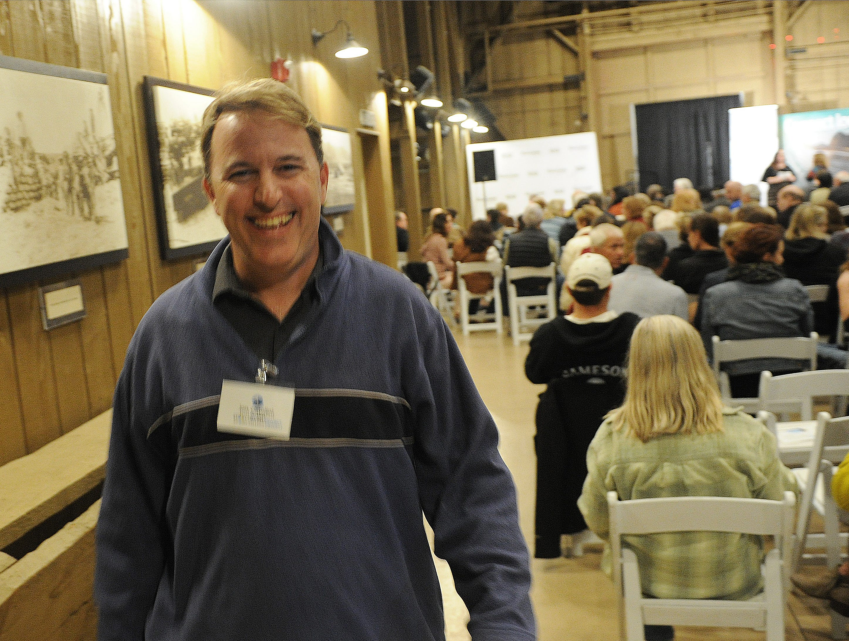"""Jon Catalini at the Ventura Storytellers Project show, """"Holiday and Family,"""" at the Camarillo Ranch House on Wednesday evening."""