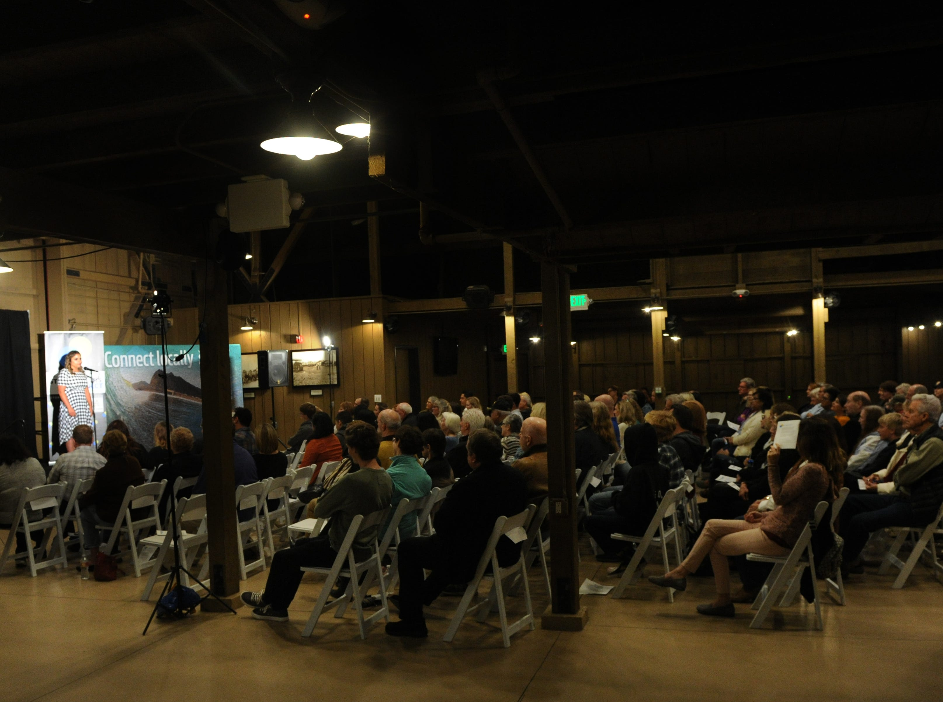 """The Ventura Storytellers Project show, """"Holidays and Family,"""" at the Camarillo Ranch on Wednesday evening draws a sold-out crowd of 200."""