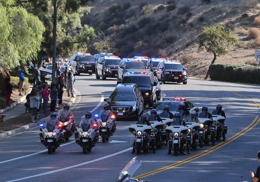 Procession For Fallen Sgt Helus 05