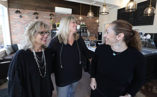 Barbara Berntsen, Nicole Scanlon and Cindy Sass-Garcia are the owners of the Village Blend Cafe in Sloatsburg Nov. 8, 2018.