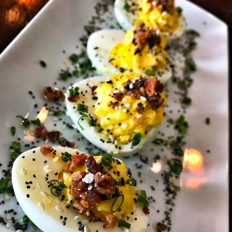 Made with caviar, bacon, even spicy tomato sauce, deviled eggs are making a comeback