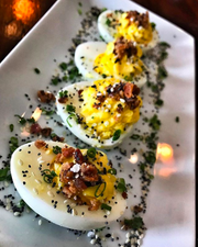 Everything deviled eggs at The Whitlock in Katonah.