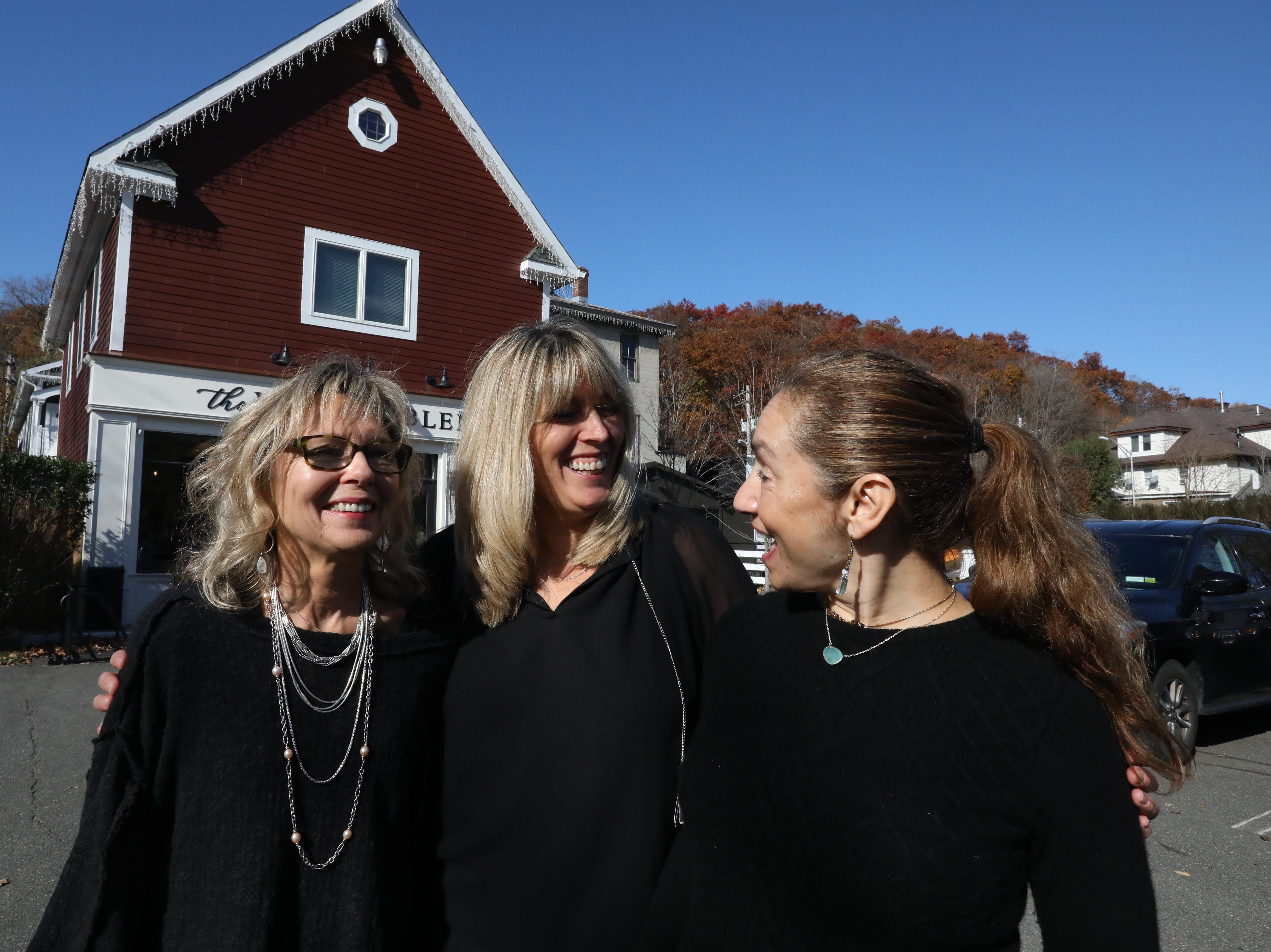 Barbara Berntsen, Nicole Scanlon and Cindy Sass Garcia are the owners of the Village Blend Cafe in Sloatsburg Nov. 8, 2018.