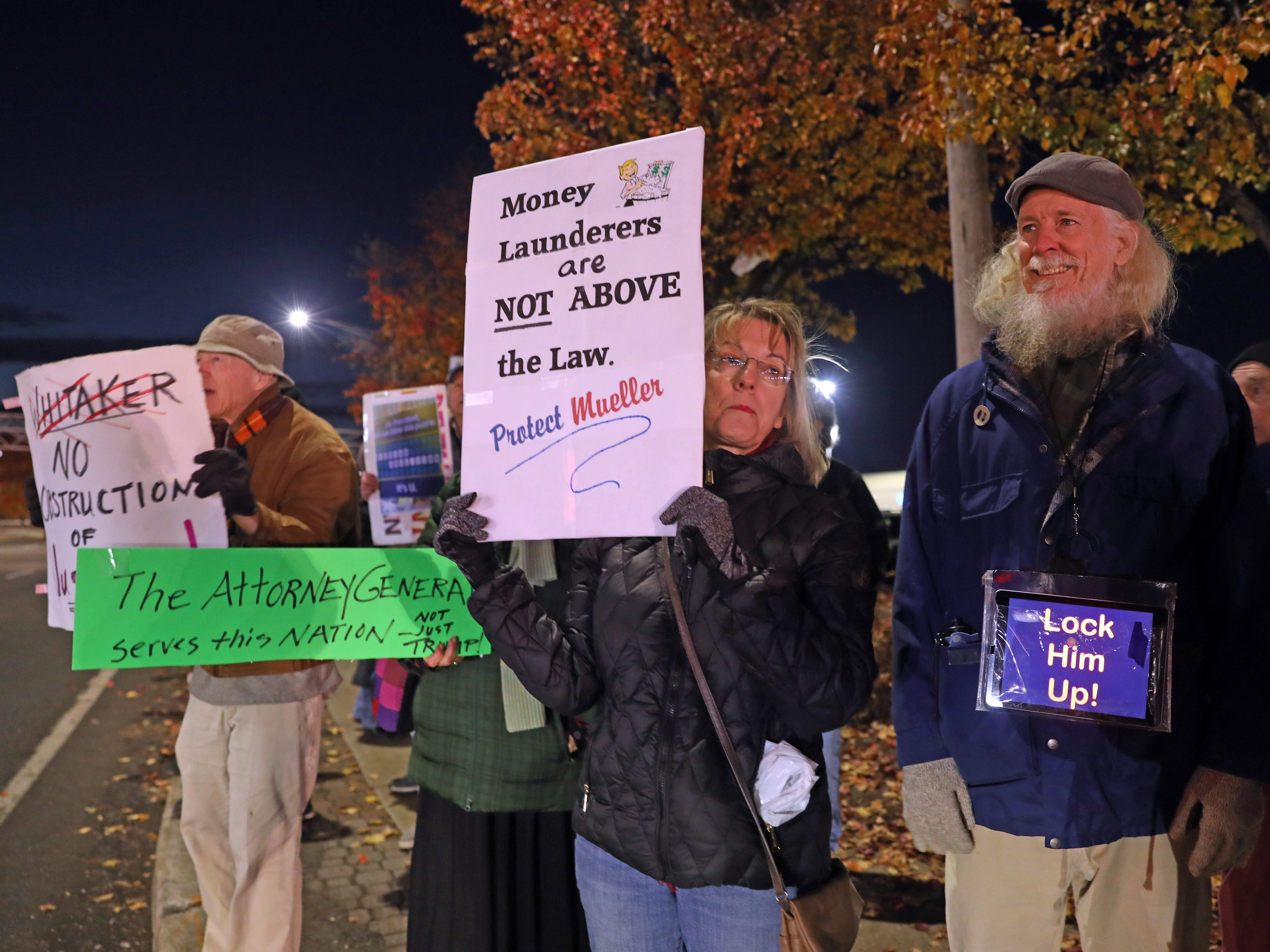 In the wake of U.S. Attorney General Jeff Sessions being fired on Wednesday people gathered on Route 59 in Nanuet on Nov. 8, 2018 to rally for the protection of Robert Mueller's investigation.