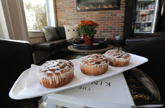 Cinnamon buns at the Village Blend Cafe in Sloatsburg Nov. 8, 2018.
